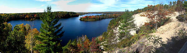 AuSable River Overlook @ Highbanks- Click for Panorama